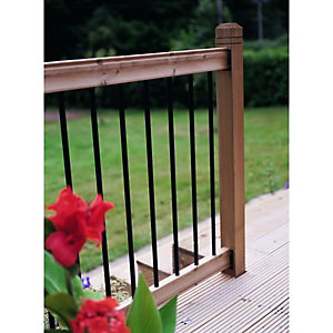 Wickes Traditional Deck Railing Kit 952 x 1816mm Black