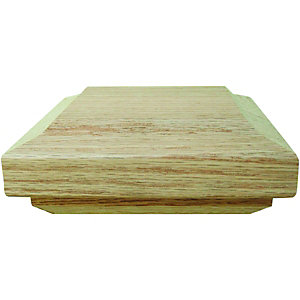 Wickes Contemporary Solid Oak Cap For Newel Posts