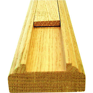 Wickes Solid Oak Baserail For 32mm Spindles 2400mm