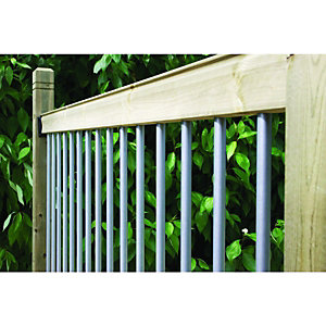 Wickes Traditional Deck Railing Kit 952x1816mm Silver