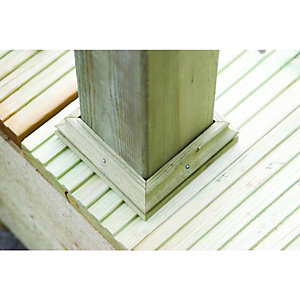 Wickes Deck Post Base Finishing Kit 114x114mm Green