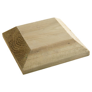 Wickes Deck Post Flat Cap 135 x 135 x 40 mm Green