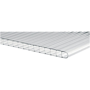 Wickes 4mm Twinwall Polycarbonate Sheet 610x1220mm Pack 10