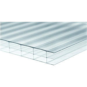 Wickes 16mm Triplewall Polycarbonate Sheet 900 x 3000mm