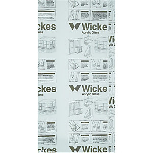 Wickes Durable Acrylic Sheet 60cmx1.22m