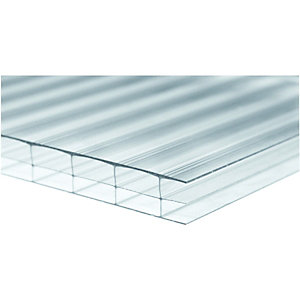 Wickes 16mm Triplewall Polycarbonate Sheet 980x4000mm