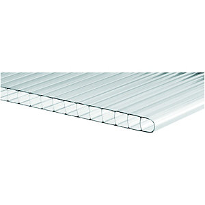 Wickes 10mm Twinwall Polycarbonate Sheet 700x2500mm