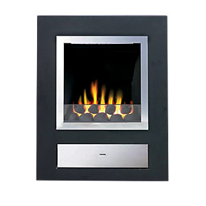 Wickes Cezanne Gas Feature Fire Polished Steel 3.3kW