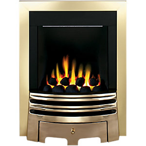 Wickes Colorado Gas Fire Brass Effect 3.3kW