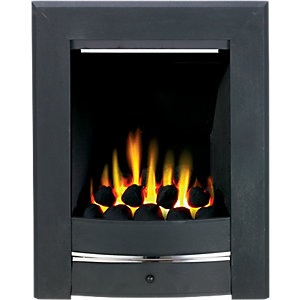 Wickes Namib Gas Fire Black