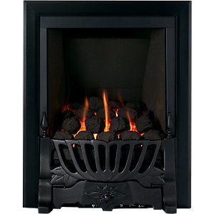 Wickes Gibson Gas Fire Brushed Black Effect 3.3kW