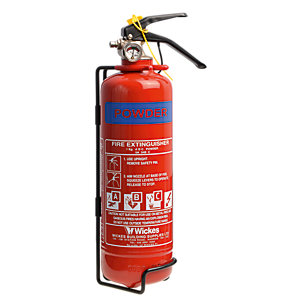 Wickes General Purpose ABC Powder Fire Extinguisher 1kg