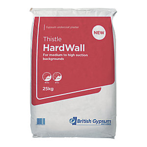 British Gypsum Thistle Hardwall Plaster 25kg