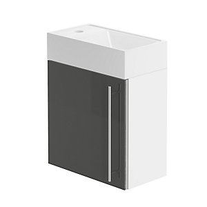 Form 400 Hand Basin Unit/W.H.Gloss. Graphite Lucido