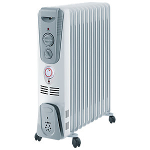 Rhino 2.5kw Manual Oil Heater White