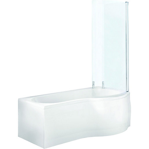 wickes santa fe curved shower bath screen wickes co uk b bath curved bath screen shower enclosures direct