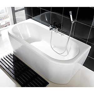 Wickes Blend Bath Front Bath Panel White 1700mm
