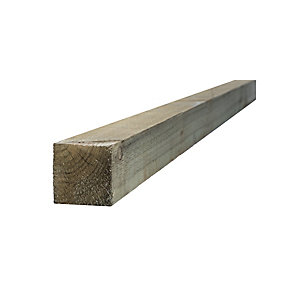 Green Treated Incised Uc4 Fence Post 75mm x 75mm x 1800mm