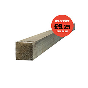 Green Treated Incised Uc4 Fence Post 100mm x 100mm x 2400mm