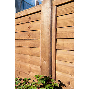 Brown Treated Incised Uc4 Fence Post 100mm x 100mm x 2400mm