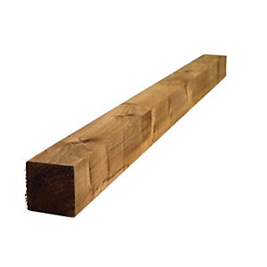 Softwood Fence Post Treated Brown 100mm x 100mm x 2400mm