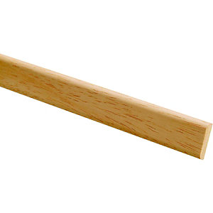 Wickes Light Hardwood D Shape Moulding FB802 6x18x2400mm