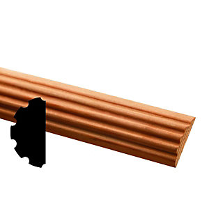 Wickes Pine Fluted Half Round Moulding FB324 4x21x2400mm