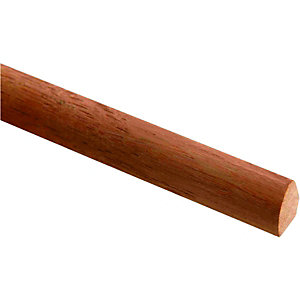 Wickes Dark Hardwood Quadrant FB119 12x12x2400mm