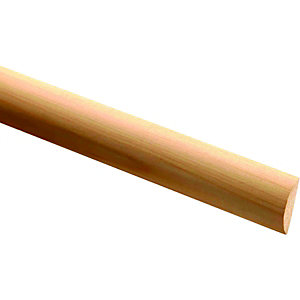 Wickes Pine Half Round Moulding FB1097 4x16x2400mm