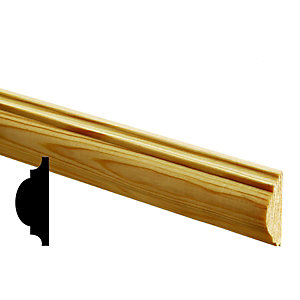 Wickes Pine Astragal Moulding FB497 12x34x2400mm