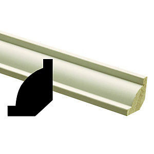 Wickes Primed Pine Coving Moulding FB1067 20x20x2400mm