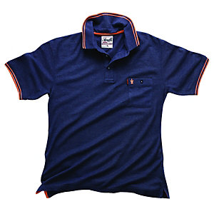 Scruffs Worker Polo T-Shirt Blue