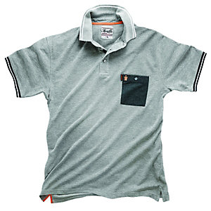 Scruffs Worker Polo T-Shirt Light Grey