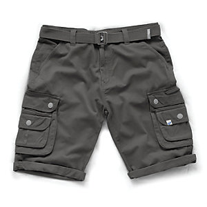 Scruffs Vintage Cargo Charcoal Shorts 34W