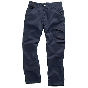 Scruffs Worker Trousers Navy Extra Long Leg