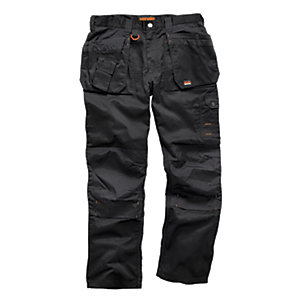 Scruffs Worker Plus Trousers Black Short Leg