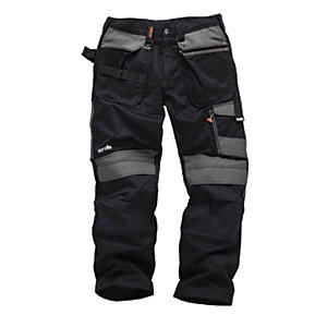 Scruffs 3D Trade Trousers Black Reg Leg