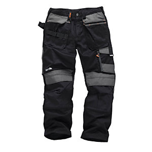 Scruffs 3D Trade Trousers Black Long Leg
