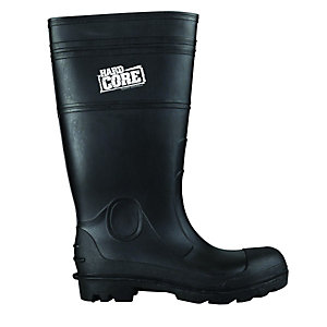 Hardcore Safety Wellingtons Black