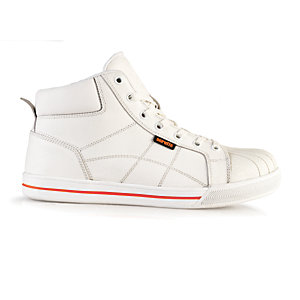 Scruffs Haze High Top Safety Trainer White Size 9