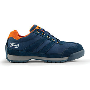 Scruffs Halo Suede Safety Trainer Navy Size 8