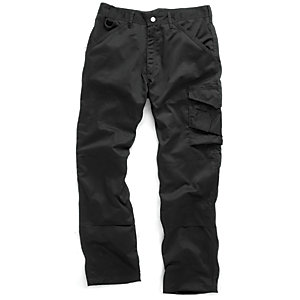 Scruffs Work Trousers Black 40W 31L