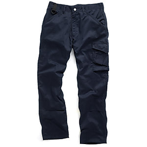 Scruffs Work Trousers Navy 34W 33L