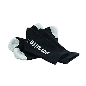 Scruffs Worker Socks Black Universal Size Pack 3