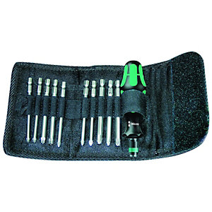 Wera KH41 11 Piece Screwdriver Bit Set Including Kraftform Handle & Pouch