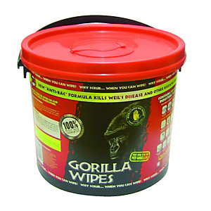 Gorilla Heavy Duty Hand Wipe Bucket 250 Sheets