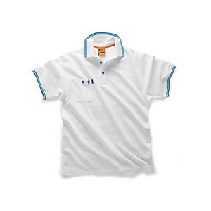 Scruffs Worker Polo White Size L