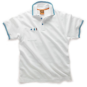 Scruffs Worker Polo White Size XL