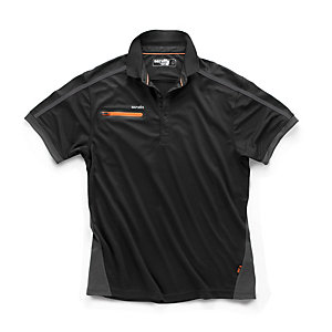Scruffs Pro Active Zip Polo Black XL