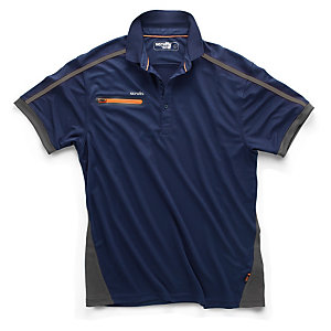 Scruffs Pro Active Zip Polo Navy S